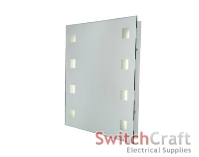 Robus Bathroom Mirror 8 frosted square lights